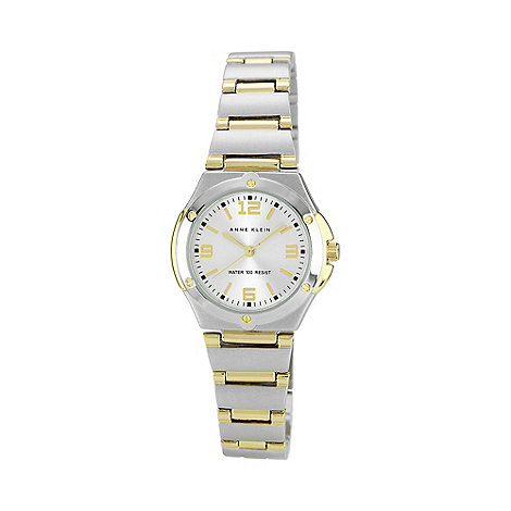 Anne Klein - Ladies silver round dial multi link watch