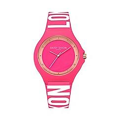Daisy Dixon - Ladies pink silicone strap watch dd040p