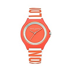 Daisy Dixon - Ladies coral silicone strap watch dd040o