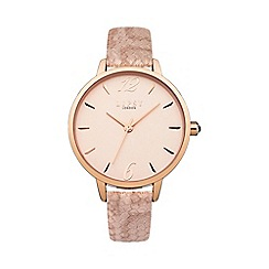 Lipsy - Ladies nude metallic strap watch lp449
