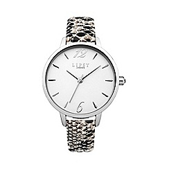 Lipsy - Ladies silver snake pattern strap watch lp450