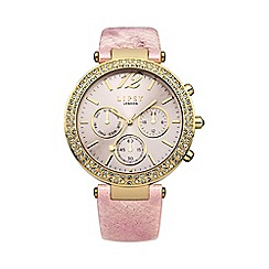 Lipsy - Ladies pink metallic strap watch lp452