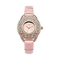 Lipsy - Ladies pink croc strap watch lp446