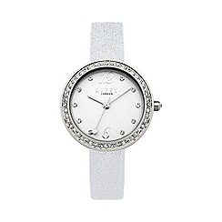 Lipsy - Ladies silver metallic strap watch lp471