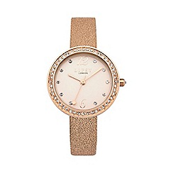 Lipsy - Ladies rose metallic strap watch lp473