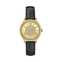Guess - Ladies black nag gold watch with glitz dial and crystal detailing w0840l1