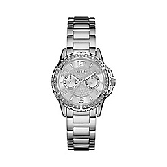 Guess - Ladies silver watch with crystal detailing and silver bracelet