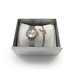Guess - Ladies rose watch and bracelet gift set ubs82107-l