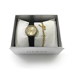 Guess - Ladies yellow gold tone watch and bracelet gift set ubs82105-l