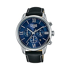 Pulsar - Mens black dial bracelet dress chronograph watch