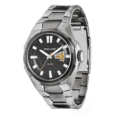 Police - Men+s gunmetal date bracelet watch