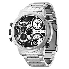 Police - Men's silver chronograph dial bracelet watch