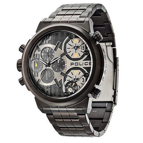 Police - Men+s black chronograph dial bracelet watch