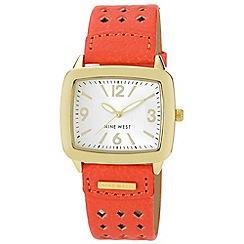 Nine West - Ladies orange strap watch