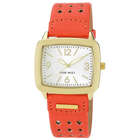 Nine West - Ladies orange strap watch