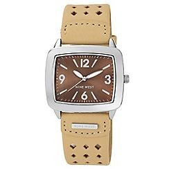 Nine West - Ladies beige strap watch