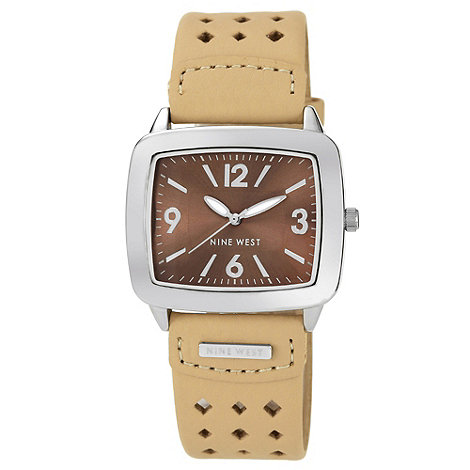Nine West - Ladies beige strap watch