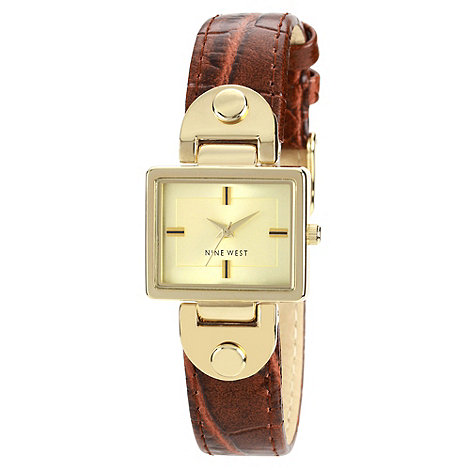 Nine West - Ladies brown strap watch