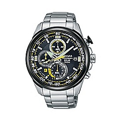 Pulsar - Mens black dial solar powered WRC chronograph bracelet watch