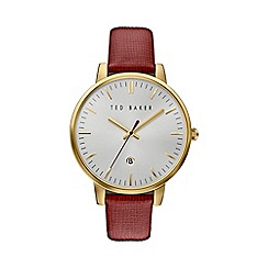 Ted Baker - Ladies burgundy leather strap watch te10030739