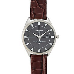 Infinite - Men's brown textured leather watch