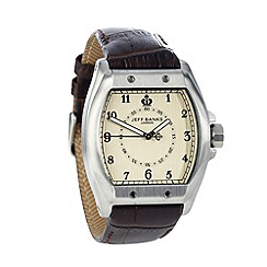 Jeff Banks - Men's brown croc tonneau watch