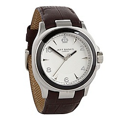 Jeff Banks - Men's brown analogue dial croc strap watch