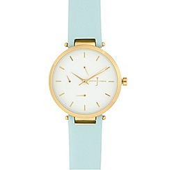 J by Jasper Conran - Ladies' light blue analogue watch