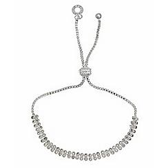 Anne Klein - Two row silver friendship bracelet