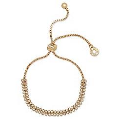 Anne Klein - Anne Klein two row gold friendship bracelet