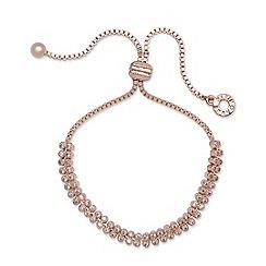 Anne Klein - Two row rose gold friendship bracelet