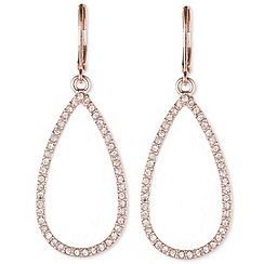 Anne Klein - Anne Klein rose gold teardrop earrings