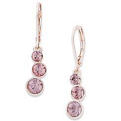 Anne Klein - Anne Klein triple drop rose gold earrings