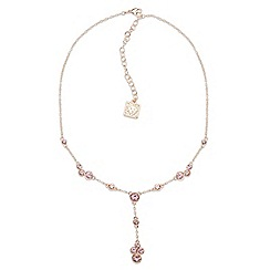 Anne Klein - Anne Klein Y-neck rosegold necklace