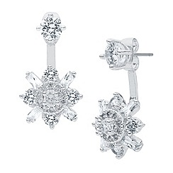 Anne Klein - Anne Klein silver floater earrings