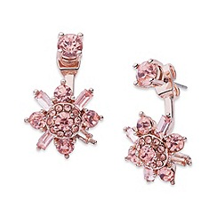 Anne Klein - Anne Klein rose-gold floater earrings