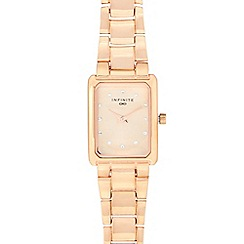 Infinite - Ladies' rose gold plated diamante analogue watch