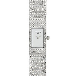 Infinite - Ladies' silver diamante analogue watch