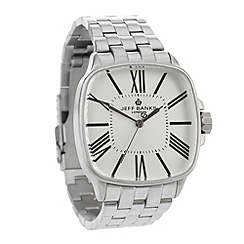 Jeff Banks - Men's steel large dial watch
