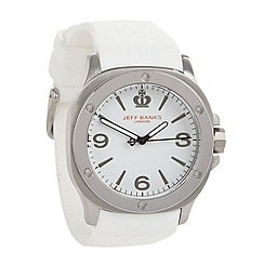 Jeff Banks - Men's white silicone strap watch