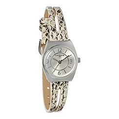 Infinite - Ladies grey snake split strap watch