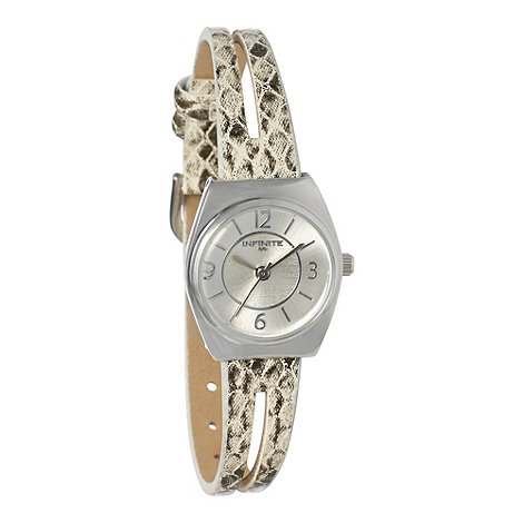 Infinite - Ladies grey snake split strap watch