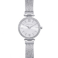 Red Herring - Ladies silver plated mesh cable strap watch