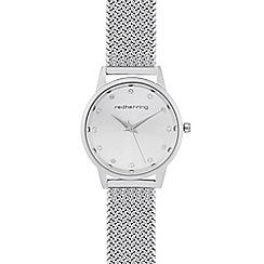Red Herring - Ladies silver mesh flat woven watch