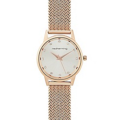 Red Herring - Rose gold mesh flat woven watch