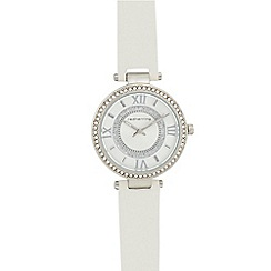 Red Herring - Ladies' silver diamante analogue watch