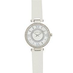 Red Herring - Ladies' silver diamante analogue watch