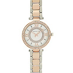 Red Herring - Ladies rose gold crystal bezel watch