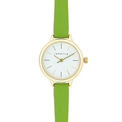 Red Herring - Green skinny analogue watch