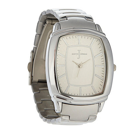 J by Jasper Conran - Designer men+s silver domed tonneau dial bracelet strap watch